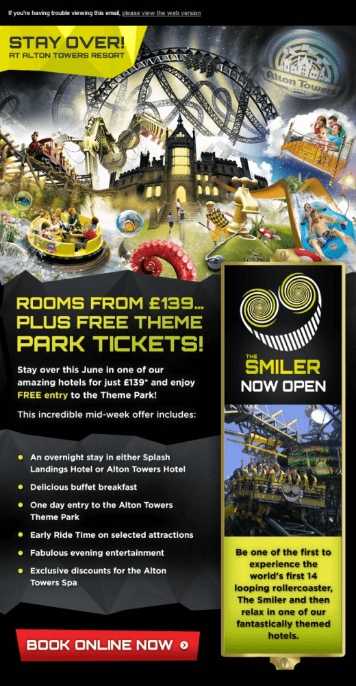 Alton Towers Email Design